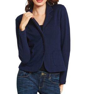 CAbi Navy Blue Breakthrough Knit Blazer Jacket L